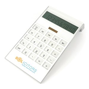 Large White Desk Calculator